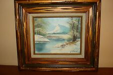 """G.WHITMAN ORIGINAL OIL ON CANVAS PAINTING SIGNED  FRAME 15.5"""" BY 17.5"""""""