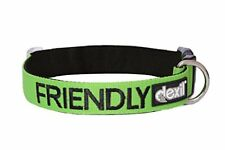 FRIENDLY Known as Friendly Green Colour Coded Neoprene Padded Dog Collar PREVE