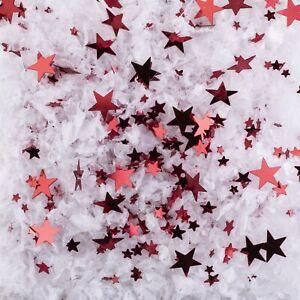600 ml Dekoschnee weiß mit Flitter rot Schnee Kunstschnee Dekoschnee