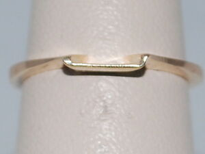 14k Yellow Gold Ring with a Cradle Design