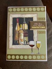 New listing Handmade greeting card Happy Birthday Aged To Perfection Like Wine 3-D