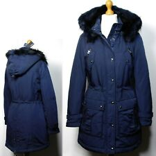M&S AUTOGRAPH Premium PADDED Stormwear PARKA Coat with HOOD ~ Size 12 ~ NAVY