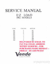 Vendo service manual Pdf sent by email 214 118, 220 125, 276 156, 322 182,