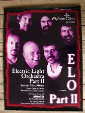 Rare Electric Light Orchestra Part Ii Plastic Marque Tour Poster Elo 1 Of A Kind