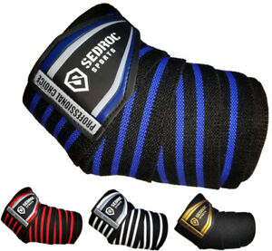 Sedroc Sports Professional Weight Lifting Elbow Wraps Support Sleeves - Pair