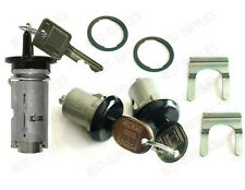 Ignition Door Lock Switch Cylinder Set With Keys for Buick Cadillac BLACK
