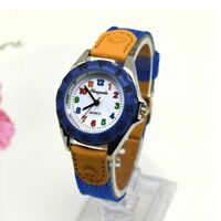 Children's Boys Girls Fabric Strap Cute Quartz Watch Wristwatch
