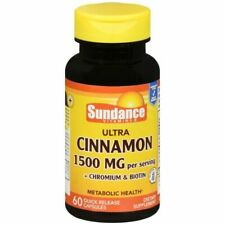 Sundance Cinnamon With Biotin and Chromium Supplement Tablets 60 Count