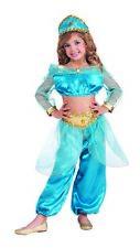 Arabian Princess Girls Child Blue Jasmine Halloween Costume