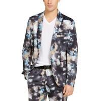 INC Mens Slim Fit Tie-Dye Peak Lapel Two-Button Suit Jacket Blazer BHFO 6573
