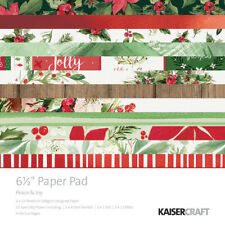 Kaisercraft Peace and Joy Collection Christmas 6.5 x 6.5 Paper Pad pp1052