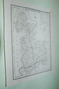 1838. LANCASHIRE MAP. COLE AND ROPER. RARE