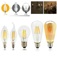Dimmable E14 E27 LED Vintage Filament Light Candle Globe Bulbs 2W 4W 6W 8W Lamps