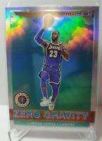 2019-20 NBA Hoops Premium LEBRON JAMES SILVER Holo Zero Gravity Prizm Lakers 🔥