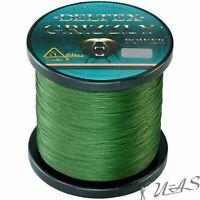 DELTEX GRIZZLY Grün 0.16mm 19,50kg 1000M PE JAPAN 4 fach Geflochtene Angelschnur