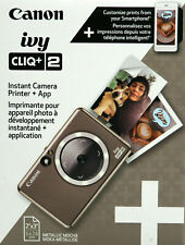 Canon Ivy Cliq + 2 Instant Film Camera + Photo Printer Metallic Mocha