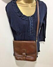 Celli Vintage Clarks Brown Handbag Saddle Bag Shoulder Messenger Crossbody Retro