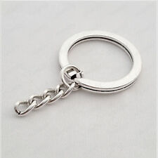 10PCS 25mm Split Rings Key chain Holder Lot Chain Wholesale Silver Metal Round