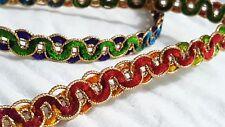 1.5cm- Hermosa multicolor Encaje Cinta puntilla para designing- 1 metro