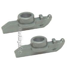 U022Ax2 Lego Pair of Hockey Player Footgear Skates - Flat Silver ( 2 pcs ) - NEW