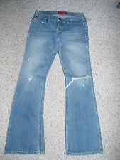 Junior's HOLLISTER Destroyed Flare Denim Jeans~3 Short