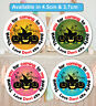 Personalised Halloween Stickers Labels Sweet Cone Spooky Birthday Party Q24 & 35