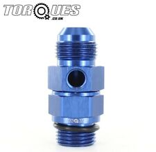 """AN -10 (AN 10 AN10) Male to 1/2"""" BSP Male With a 1/8"""" NPT Side Port Adapter"""