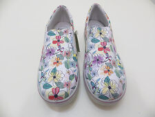 """PRIMIGI Euro 37 floral pull on flats  Ladies 6 """"Monny"""" new leather and fabric"""