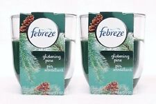 2 Febreze Limited Edition GLISTENING PINE Scented 1 - Wick Filled Candle