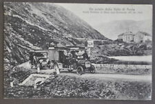 Cartolina Valle Aosta Montagna Confine Gran San Bernardo Auto Postali Posta 1916