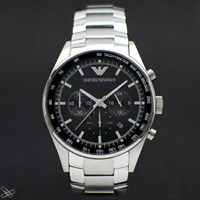 Emporio ARMANI AR5980 Herrenuhr Chronograph Farbe: Silber / Schwarz