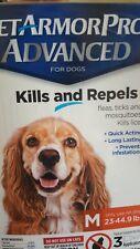 Pet Armor Pro Advanced Flea & Tick Treatment for Medium Dogs 3-count. READ.