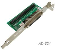 HPDB50 Female External Connector to IDC50 Male Internal Connector SCSI Adapter