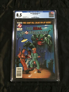 Now Comics 1988 Real Ghostbusters #1 CGC 8.5 White Pgs RARE NEWSSTAND EDITION!