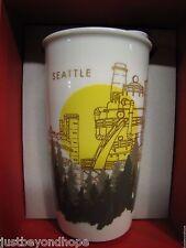 NIB 2015 Starbucks Seattle Gas Works Park Traveler Tumbler Mug Dot Collection