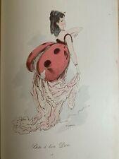 ORIGINAL COSTUMES DE FANTAISIE POUR BAL TRAVESTI 24 Inédit drawings by A.GREVIN