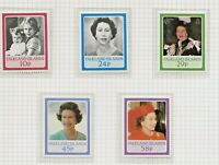FALKLAND ISLAND 1986 60TH BIRTHDAY QUEEN ELIZABETH II,SET OF 5 PERF MINT