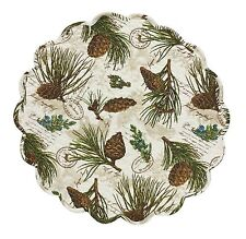 "Walk in the Woods Round Placemats by Park Designs, 17"", Quilted, Set of Four"