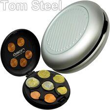 Ögon Coin Despenser almacenamiento de moneda aluminio plata