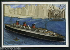 THE QUEEN MARY POSTCARDS - Ship Liner Blue Riband Troop carrier & Floating Hotel