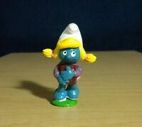 Smurfs 20173 Schoolgirl Smurfette Smurf Vintage Figure PVC Toy Figurine 1980s
