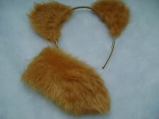 Care Bear Birthday Bear Gold Ears And Tail Set Faux Fur Instant Fancy Dress