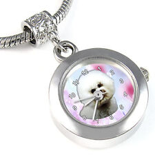 Bichon Frise European Bead Watch For Bracelet EBA091