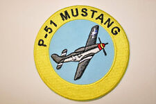 P-51 Mustang Embroidered Heat Sealed Patch P038