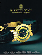 PUBLICITE ADVERTISING 074  1991  HARRY WINSTON  collection montres