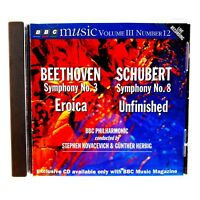 Vintage BBC Music Cd Volume 3 Number 12 Beethoven Schubert Symphony Mint Disc