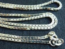 Sterling silver Box chain 1.5mm links 20 inch necklace jewelry supplies findings