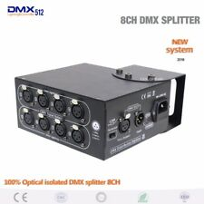DMX controller 8ch 100% Optical isolated DMX splitter 8 channels dmx Distributor