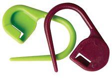 KnitPro Plastic Locking Stitch Markers Pack of 30 Purple and Green