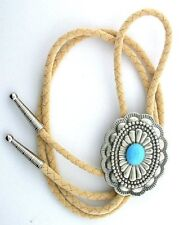 12x10 Sleeping BeautyTurquoise Cab Cabochon Gemstone Bolo Tie Cord Tips EPBT87N